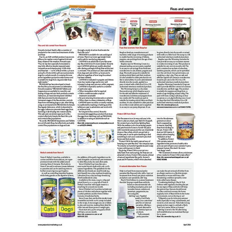 Pet Product Marketing - April 2014